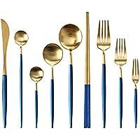 YILIAN Chashao Juego de Cubiertos de Alta Gama. Cuchillo y Tenedor para Carne. Conjunto