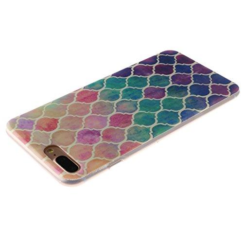 Voguecase® für Apple iPhone 6/6S 4.7 hülle, Anti-Rutsch Transparent Schutzhülle / Case / Cover / Hülle / TPU Gel Skin (Rutschfest/Faith) + Gratis Universal Eingabestift Bunte Kreise
