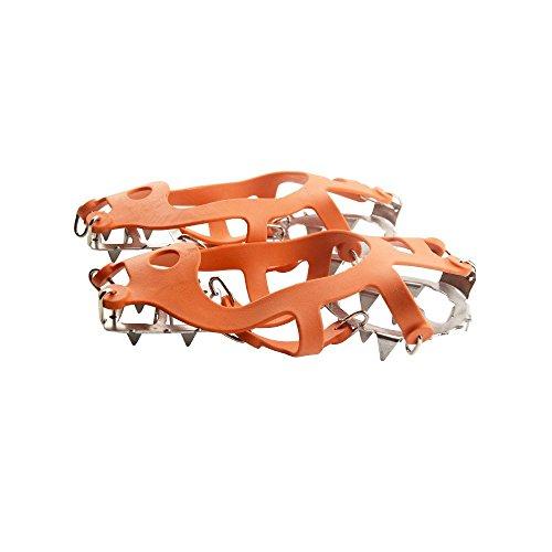 ASIV® 18 Denti in Acciaio Inox Set di Tacchette Scarpe Copertura per All'Aperto Arrampicata Neve Ghiaccio M Arancione