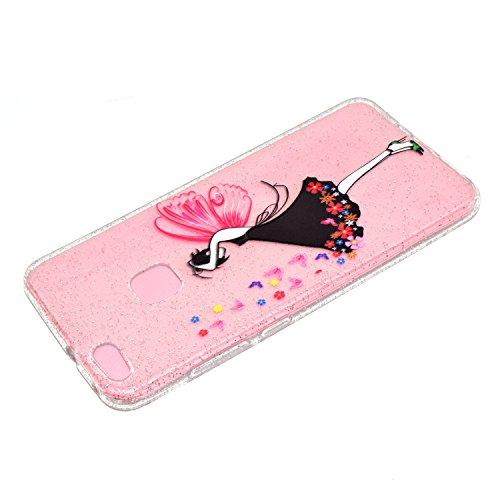Cover iPhone 5 Silicone, Custodia iPhone SE Glitter, Funluna Custodia Brillante Bling Glitter Cover Ultra Sottile Trasparente Silicone Gel Antiurto Protettiva Bumper Case per Apple iPhone 5 / 5S / SE Ragazza