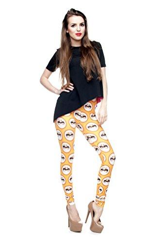 Long Femmes Filles Leggings Jegging imprimé Fitness Pantalon Skinny stretch Galaxy Pantalon de sport d'entraînement - Yellow Cat
