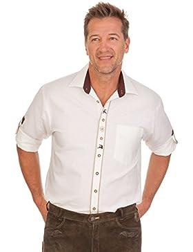 Trachtenhemd mit langem Arm - HELMUT - weiß