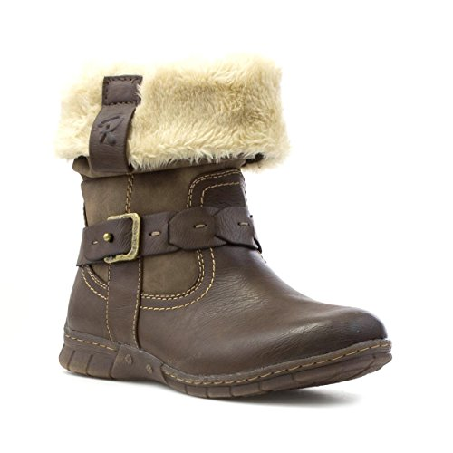 Lotus Womens Brown Stitch Detail Casual Boot - Size 5 UK -...