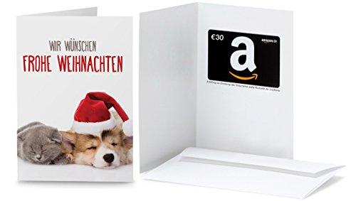 Amazon.de Grußkarte mit Geschenkgutschein - 30 EUR (Hund und Katze)