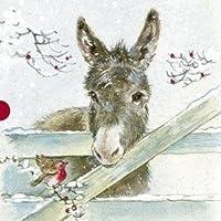 Medici Cards Christmas-Christmas 0010 asini) (confezione da 16 biglietti