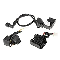 Tubayia Ignition Coil + CDI Box + Voltage Regulator Rectifier + Relay Starter for Chinese ATV Quad 150 200 CC 250 CC
