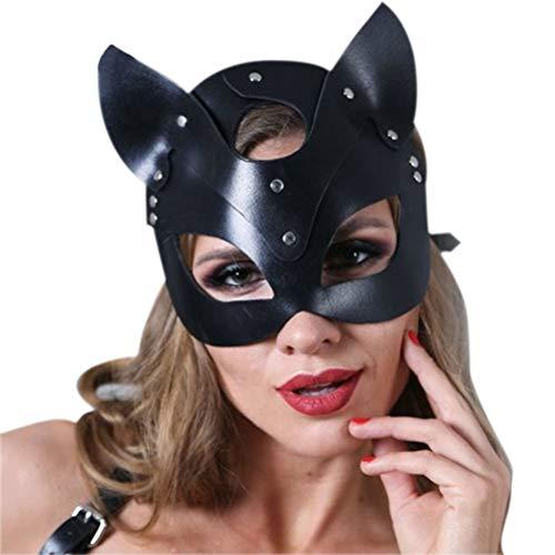 Broadway Frauen Kostüm - CaCaCook Maskenmaske, Frauen Katze Kopfmaske Halloween Karneval Party Maske Catwoman Cosplay Gesichtsmaske