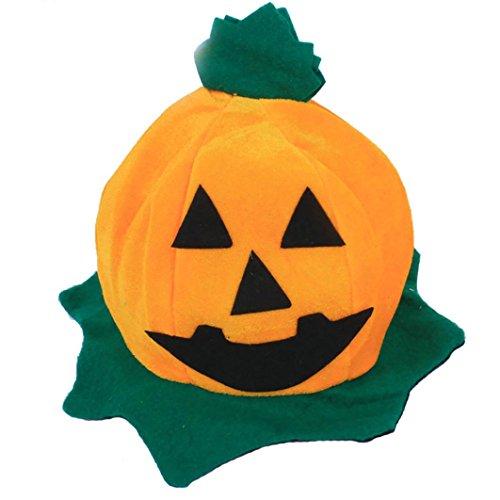ZahuihuiM Orange Worsted Cos Halloween Kürbis Hut Kürbis Motive Lint Top Orange Hüte lustig Vampir Horror Zombie Hexe Teufel Skelett Outfit Deko Halloween Kostüm Hut (Freie Größe, ()