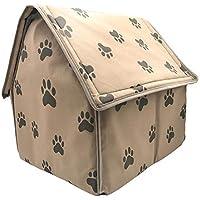 WUYANSE afectividad Que Gato Perro Otoño y – aufgefülltes pequeña casa Huella Mascota Invierno extraíbles,