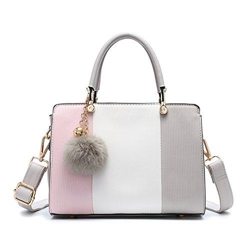 ZCM Neue Frauen Messenger Bags Neue Marke und hohe Qualität stilvolle Schultertasche verschönert Tasche neuesten Handtaschen Stil Handtasche für Frauen (Farbe : Beige) (Tasche Verschönert)
