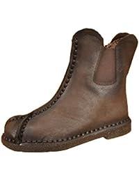 QVRGE Botas De Invierno Botas De Tobillo Botas Calientes Zapatos Planos