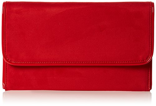 Swankyswans Damen Amanda Suedette Slim Clutch, Rot (Red), 3x15.5x25.5 centimeters