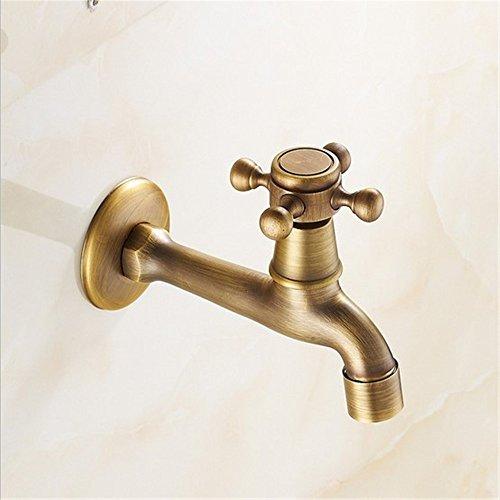 Waschmaschine mop Pool Wasserhahn Küche Badezimmer Armatur Waschbecken Wasserhahn Retro Kupfer Outdoor Faucet Single- und Kalten Wasserhahn, Ein