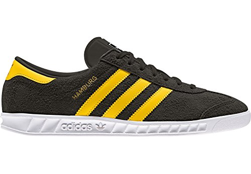 adidas Unisex-Erwachsene Hamburg Sneakers Schwarz (Core Black/eqt Yellow/footwear White)