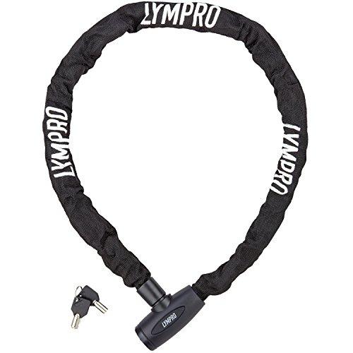 LYMPRO candado de bicicleta 110 cm con eslabones gigantes, 7 mm - candado de seguridad/ cadena para bicicleta / candado de cadena - incluye 2 llaves – con 2 años de garantía de devolución de dinero