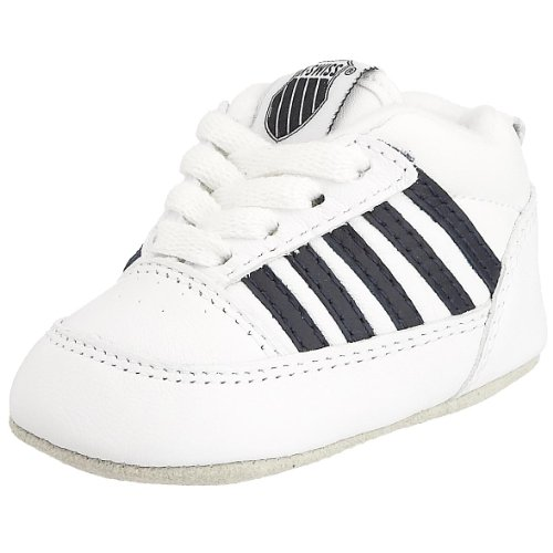 k-swiss-cribs-zapatillas-deportivas-de-cuero-bebe-unisex-color-blanco-talla-0-child-uk
