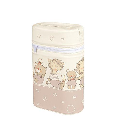 Warmhaltebox für 2 Flaschen Isoliertasche Babyflasche Thermobox Tasche Doppelt Enten