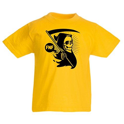 (Kinder T-Shirt Tod (9-11 Years Gelb Mehrfarben))