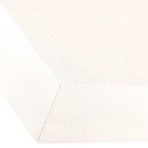 aqua-textil Premium Spannbettlaken 180x200-200x220 cm Schnee weiß Baumwolle Bettlaken Betttuch Elastan Spannbetttuch