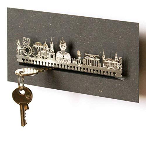13gramm Aachen-Skyline Schlüsselbrett Souvenir in der Geschenk-Box