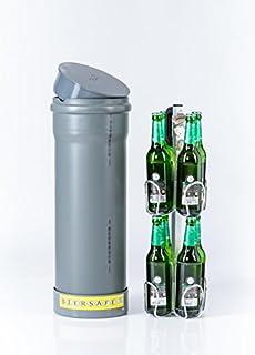 BIERSAFE: Der kleine Bruder. Kühler für 8x Bierflasche. Erd-Kühlrohr ohne Strom - cooles Bier-Geschenk!