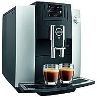 JURA E6 Independiente Máquina espresso Negro, Platino 1,9 L 16 tazas Totalmente automática - Cafetera (Independiente, Máquina espresso, 1,9 L, Molinillo integrado, 1450 W, Negro, Platino)