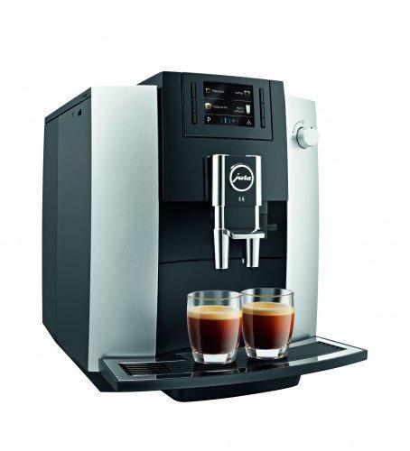 JURA E6 Platina Independiente Máquina espresso Negro, Platino 1,9 L 16 tazas Totalmente automática - Cafetera (Independiente, Máquina espresso, 1,9 L, Molinillo integrado, 1450 W, Negro, Platino)