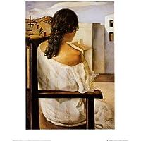 Lámina 'Muchacha de espaldas', de Salvador Dalí, Tamaño: 40 x 50 cm