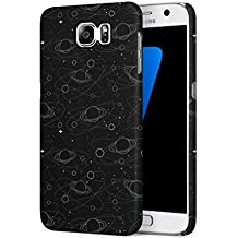 Cute Saturn Cosmic Galaxy Pattern Samsung Galaxy S7 SnapOn Hard Plastic Phone Protective Fall Handyhülle Case Cover