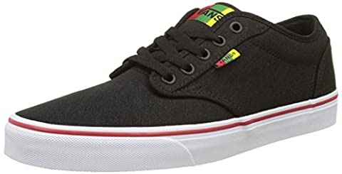 Vans Men MN Atwood Low-Top Sneakers, Black ((Rasta) Black/Red), 11