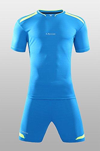 World Cupkawu Nach Maß 2017 Fußball Trikots Set Männer DIY Fußball SurvêtementKleidung Kurzarm Anzug Maillot De Fuß S17026, Blau, XXL (Fußball Diy Kostüme)
