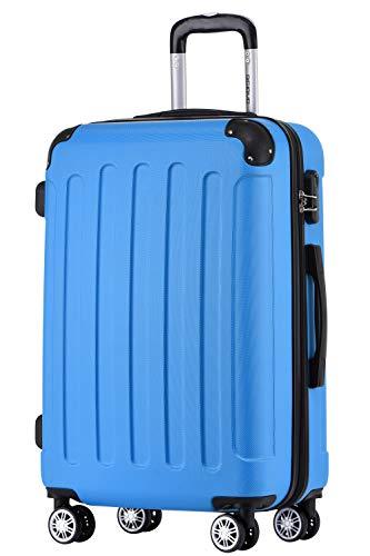 BEIBYE Hartschalen-Koffer Trolley Rollkoffer Reisekoffer Handgepäck 4 Rollen (M-L-XL-Set) (Turquoise, L)