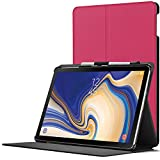 Forefront Cases Samsung Galaxy Tab S4 10.5 Hülle | S-Pen Stifthalter | Magnetische Galaxy Tab S4 10.5 Zoll Tablet-PC SM-T830/T835 Cover | Automatische Schlaf Wach Funktion Dünn Leicht | Rosa