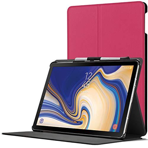 Forefront Cases Smart Hülle kompatibel für Samsung Galaxy Tab S4 10.5 | S-Pen Stifthalter | Magnetische Cover Galaxy Tab S4 10.5 Zoll Tablet-PC SM-T830/T835 | Auto Schlaf Wach Dünn Leicht | Rosa