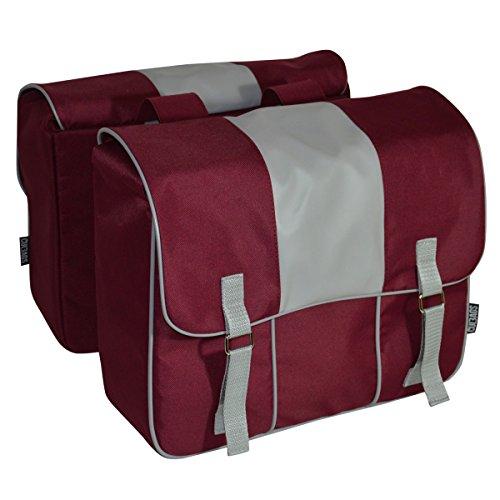 C-BAGS DIGNITY double CLASSIC Eco Leather Gepäckträger Fahrrad Tasche verschiedene Muster Burgundy