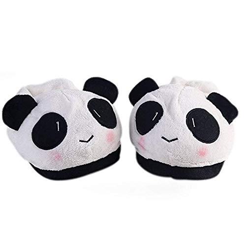 Leisial di cotone caldo e confortevole mantieni caldo in inverno panda peluche pantofole da interno in cotone antiscivolo uomini e donne