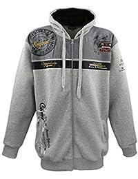 Lavecchia Men s Long Sleeve Sweatshirt - Grey - 4XL c4d9165381