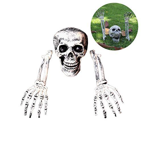 - Halloween Schädel Dekoration