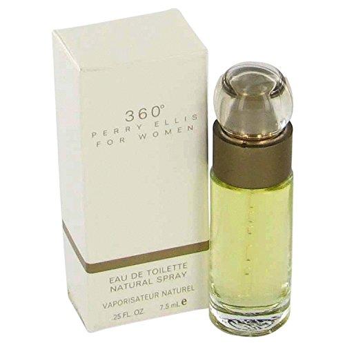Perry Ellis 360 by Mini EDT Spray (Without Cap) .25 oz / 7 ml (Women)