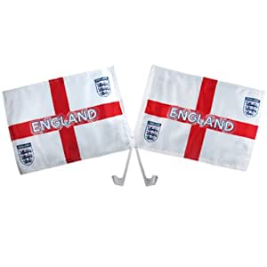 Car Flag Twin Pack - England F.A (St George)
