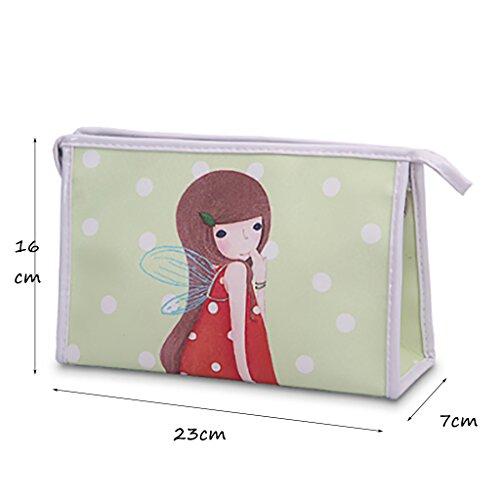 CLOTHES- Donne Studenti Femminili Studenti Giovani Corea Carino Impermeabile Cosmetici Borsa Pacchetto borsa tenere Borsa di lavaggio Cosmetic Bag ( Colore : C ) C