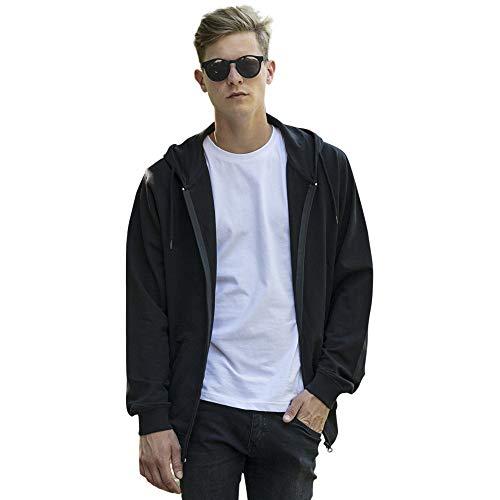 Cotton Addict Mens Terry Cotton Zip Up Hoodie Jacket Terry Zip Front Jacket