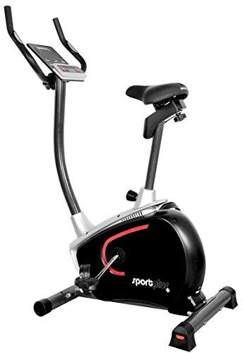 ergometer senioren SportPlus Hometrainer mit App-Steuerung, Google Street View, ca. 9kg Schwungmasse, 24 Widerstandsstufen, Handpulssensoren, Nutzergewicht 110kg, Heimtrainer-Fahrrad, Sicherheit geprüft