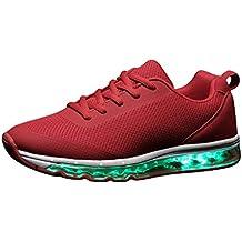Acmebon Zapatillas Recargables Modernas Transpirables LED de 7 colores - Zapatos Luminosos Para Niño y Niña - Zapatillas de Deporte Sneakers Iluminados Intermitentes o Fijas