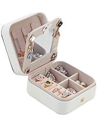 Kitrack Caja De Almacenamiento De JoyeríA PequeñO Sostenedor del Collar ExhibicióN PortáTil para ...