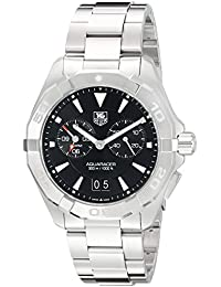 TAG Heuer Men's Aquaracer 40.5mm Steel Bracelet & Case Quartz Black Dial Analog Watch WAY111Z.BA0928