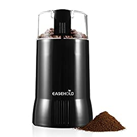 Easehold 200W Electric Whole Coffee Grinder Bean Nut and Spice Grindering with Stainless Steel Blade Black