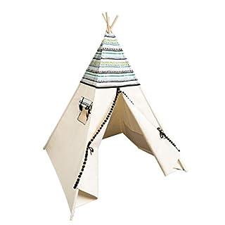 cozydots Indianer Tipizelt für Kinder im Alter von 0-7 Jahren, 150 cm hoch, ideal für kreativen Spaß für Jungen, Indianer Abenteuerzelt (Aztec)