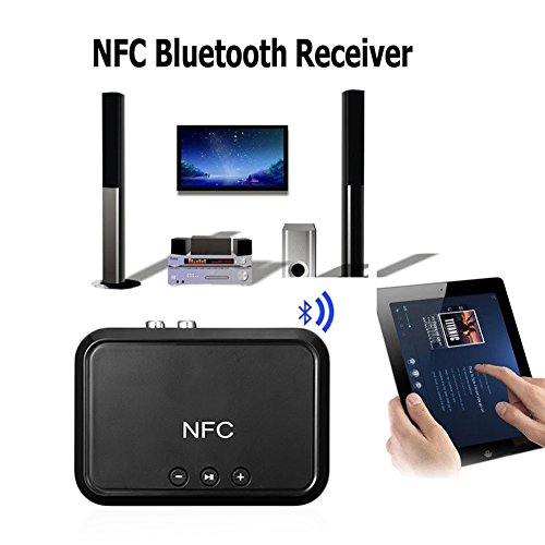 Comaie NFC-fähiger Bluetooth-Audio-Empfänger mit großer Reichweite und hochwertiger Akustik, HD Musik-Technologie, 4.1-Adapter, unterstützt NFC-Handsets Tablets, Laptops, Digitale Produkte 4 Handsets