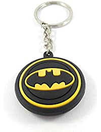 Key Era Double Sided Batman Logo Multicolour Rubber Keychain & Keyring For Bikes, Cars, Bags, Home, Cycle, Men...